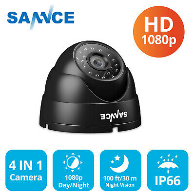 SANNCE 4IN1 CCTV Camera Dome HD 1080P IP66 IR Cut Night Vision Home Security Kit • 19.99£