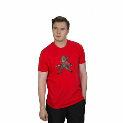 AU30.53 • Buy Overwatch Mccree Pixel T-shirt Unisex X-large Red (ts002ow-l)