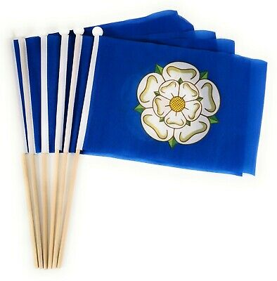 Yorkshire County Waving Hand Flag 6 Pack FREE UK DELIVERY! • 8.99£
