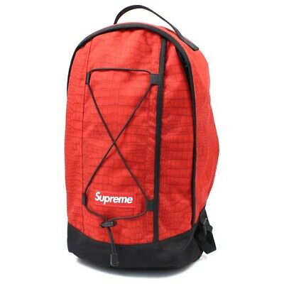 $ CDN8.59 • Buy Supreme SS13 Croc Red Backpack