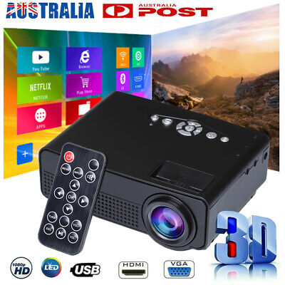 AU62.99 • Buy Mini Portable Pocket Projector HD 1080P LED Home Theater Video Projector HDMI AU