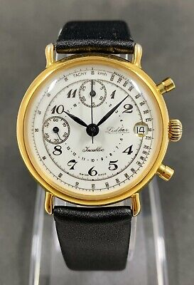 $ CDN466.69 • Buy Vintage CHRONOGRAPH LIDHER Manual Wind Watch Cal.Valjoux 7765 , 17 Jew