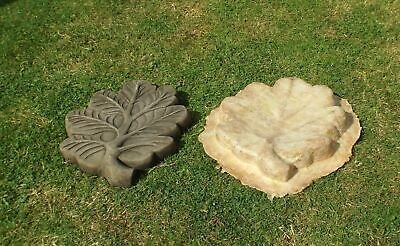 Latex Mould To Make Garden Ornament Oak Leaf Stepping Stone Concrete IN STOCK • 38.99£
