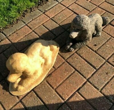 Latex Mould To Make Garden Ornament Poodle Dog Concrete IN STOCK • 48.99£