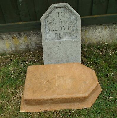 Latex Mould To Make Garden Ornament To A Beloved Pet Headstone Concrete IN STOCK • 37.99£