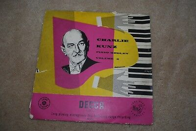 CHARLIE KUNZ PIANO MEDLEY VOL 4 DECCA 33 Rpm Long Playing Gramophone Record RARE • 11.99£