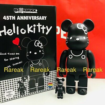 $299.99 • Buy Medicom Be@rbrick Sanrio Hello Kitty 45th Anni. 400% & 100% 80's Black Bearbrick
