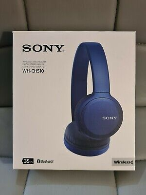 SONY WH-CH510 Wireless Bluetooth Headphones - Blue • 20£