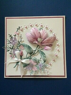 Handmade 3d Card Topper .. .   All Occasions.  Pink Clematis Mini Flowers. • 2.10£