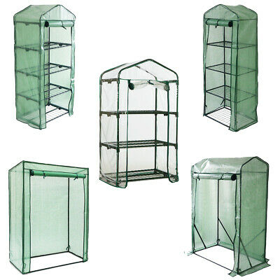 Greenhouse Outdoor Garden Grow Bag Green House With Shelves And Greenhouse Cover • 19.85£
