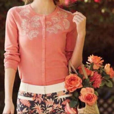 $ CDN42.35 • Buy Anthropologie Sparrow Liza Embroidered Cardigan - Size Medium