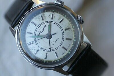Men's Vintage Ussr Mechanical Poljot 18 Jewels With Alarm! • 59£