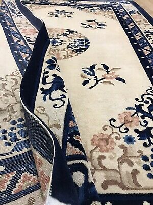 £270 • Buy Vintage Hand Made Rug/oriental /traditional Chinese Hand Knotted Wool Carpet