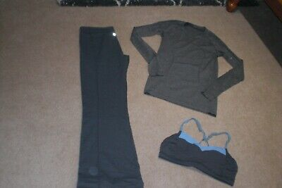 $ CDN73.60 • Buy Lot Of Lululemon Groove Pants, Run Swiftly Sweater And Bra Sz 10
