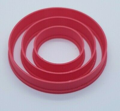 £3 • Buy Set Of 3 Circle / Round Biscuit Cookie Cutters Icing Sugar Craft Cake