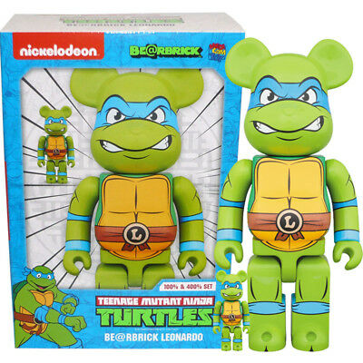 $139.95 • Buy Medicom Be@rbrick Bearbrick Teenage Mutant Ninja Turtles Leonardo 100% & 400%