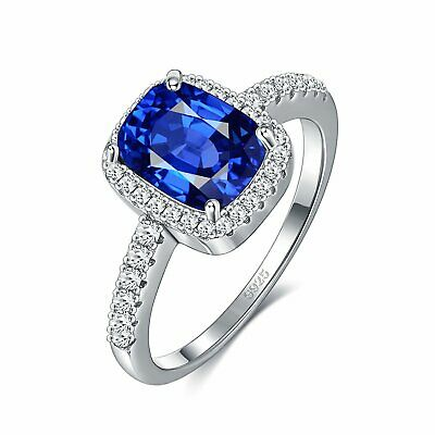 £14.36 • Buy Classic Emerald Cut Sapphire Ring - Kate Middleton Inspired