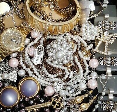 $ CDN79.08 • Buy Vintage Now Unsearched Untested NOT Junk Drawer Jewelry Lot Estate All Wear L535