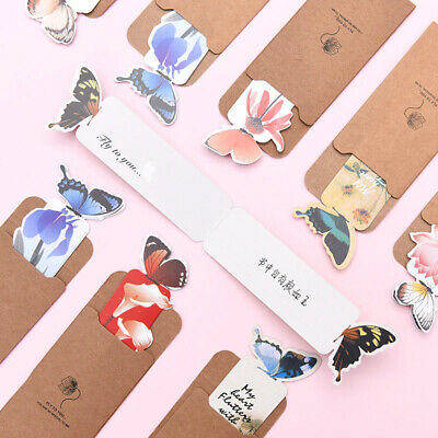 £1.49 • Buy 1 Pc Butterfly Shape Bookmark Creative Stationery Retro Cute Decorative 3D