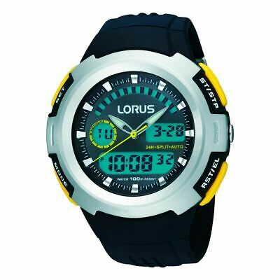 Lorus Mens Dual Display Chronograph Watch With Resin Strap (model No. R2323dx9) • 22.71£