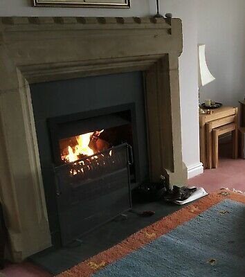 Limestone Fire Surround With Mantlepiece And Hearth • 216£
