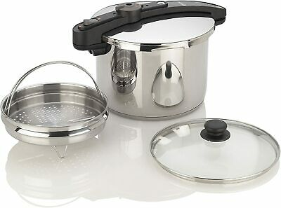 Fagor Chef Pressure Cooker 6 Quart Stainless Steel Steamer Basket Stovetop • 58.22£