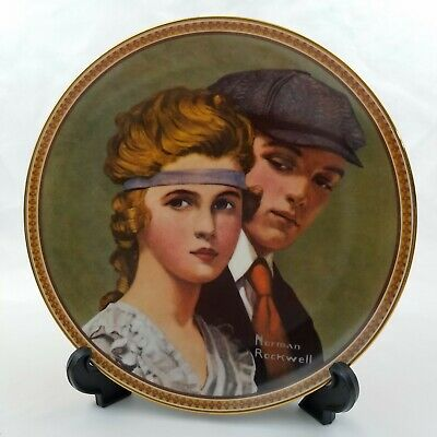 $ CDN12.53 • Buy Norman Rockwell Collector Plate  Meeting On The Path  Edwin Knowles 8.5  COA