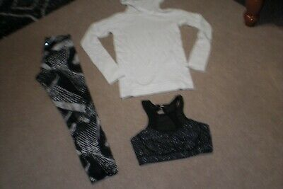 $ CDN108 • Buy Lot Of Rare Lululemon Tights,  Rare Sweater With Hood And Rare Bra Sz 6