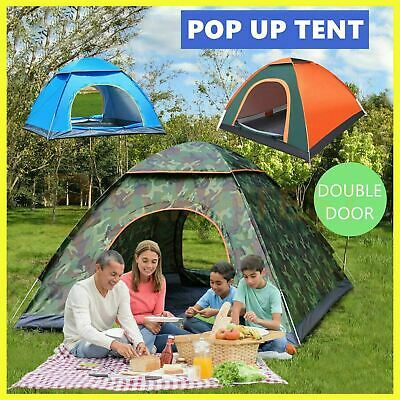 AU39.99 • Buy 2-4 Man Persons Automatic Pop Up Tent Outdoor Hiking Waterproof Camping Fishing