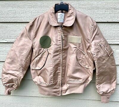 $ CDN246.81 • Buy Genuine Usaf Tan Nomex Fire Resistant Summer Flyers Jacket Cwu-36/p - Large