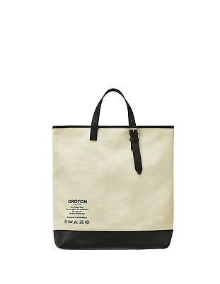 AU189 • Buy OROTON CLASSIC CANVAS TOTE BAG In Natural/Black RRP$199