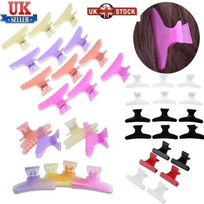 £4.19 • Buy 6/12Pcs Salon Hairdressing Butterfly Clips DIY Hair Styling Section Clamp Claw