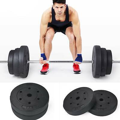AU59.30 • Buy 1  Weight Plates For Dumbbells & Weights Lifting Bars Gym Barbell 5kg And 10kg
