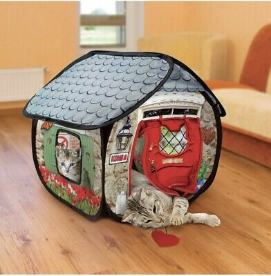 KONG Play Spaces Bungalow- Cats Need To Play !! Cat Playhouse Kitten Fun Toy  • 16£