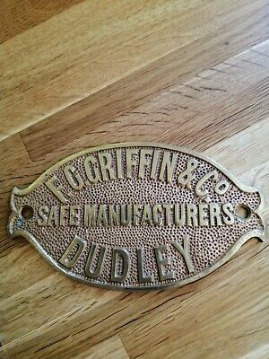 Antique Safe Plaques Brass • 22£