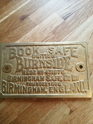 Antique Safe Plaques Brass • 25£