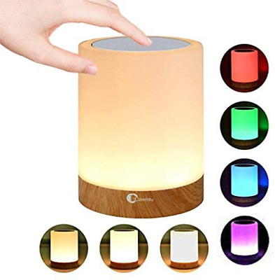 Caxmtu LED Night Light Touch Lamp Bedside Table Lamp For Kids Bedroom Dimmable + • 19.72£