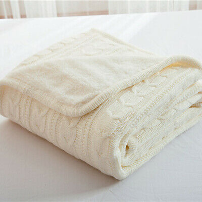 Thic Knitted Blanket Artificial Lamb Cashmere Quilt Throw Sofa Cover Bedspread • 42.99£