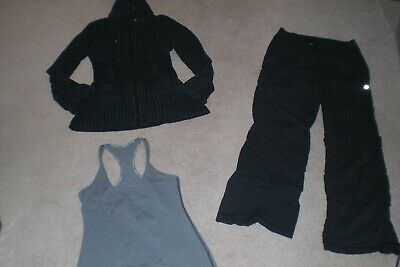 $ CDN65 • Buy Lot Of Lululemon Dance Studio Pants,  Rare Full Metal Jacket And Tank Sz 4 / 6