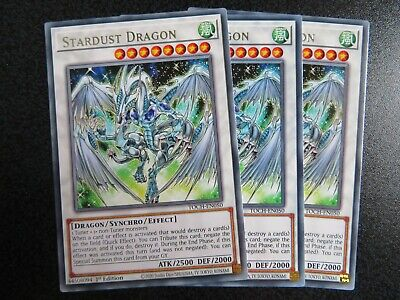 3x Stardust Dragon Rare TOCH-EN050 1st Edition (Pack Fresh) • 0.49£
