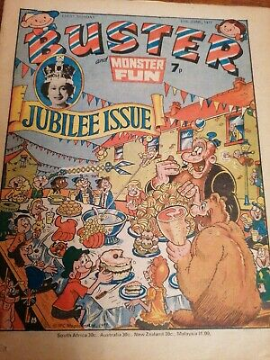 Buster And Monster Fun Comic 11th June 1977 Queen's Silver Jubilee Edition • 0.99£