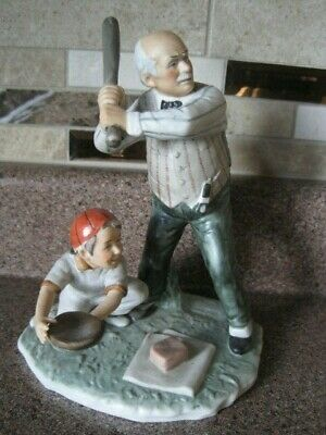 $ CDN31.08 • Buy Gorham Norman Rockwell Figurine Batter Up Saturday Evening Post Limited Edition