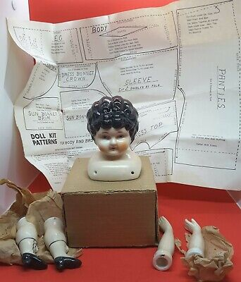 $ CDN41.88 • Buy Vintage Porcelain Doll Head & Breast Plate Body Parts Matte & Gloss Pattern New