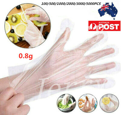 AU17.99 • Buy 3000PCS Disposable Clear Plastic Gloves For Food Handling Hygiene Catering AU