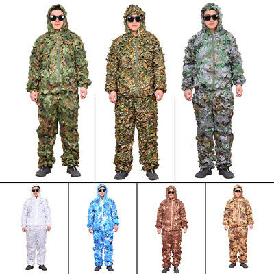 AU35.14 • Buy 3D Ghillie Suit Camouflage Clothing Hunting Snow Camo Training Bowhunt Suit