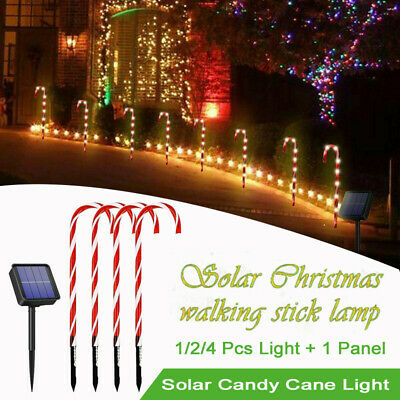 Solar Path-light Candy Cane Street Light Outdoor Xmas Christmas Decor Stake Lamp • 12.99£