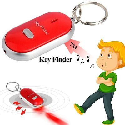 Whistle Lost Key Finder Flashing Beeping Locator Remote Chain LED Sonic Torch UK • 1.85£