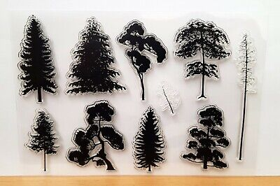 Silhouette Trees Clear Stamps - 10 Different Trees • 3.99£