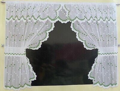 £14.50 • Buy New Kitchen Window Curtain Sets With Valance & Tiebacks....Various Designs