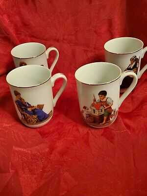 $ CDN17.16 • Buy Set Of 4 Norman Rockwell Mugs. New In Box.